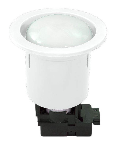 Uni 5 Round Cfl Downlight Inc 15W R80 Cfl Globe - White Bri