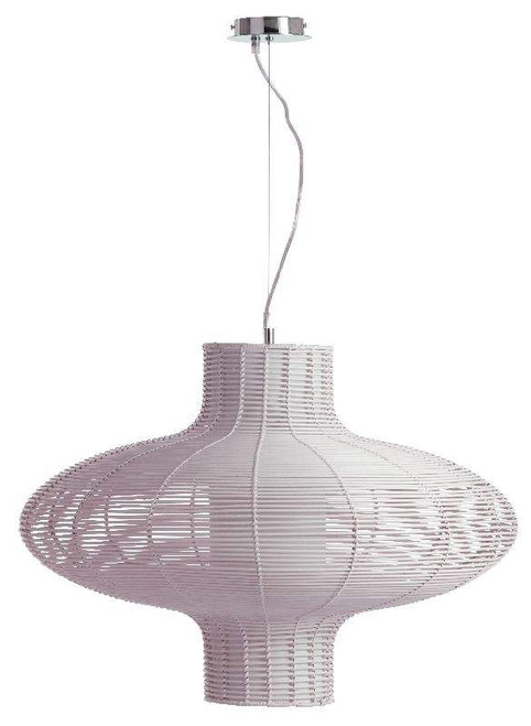 Kubu 1 Light Rattan Pendant (100155/37) Brilliant Lighting