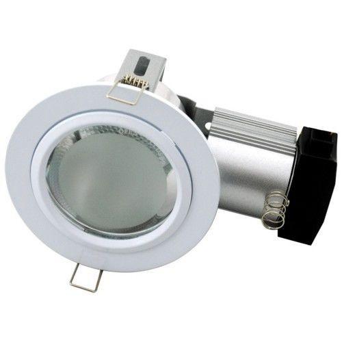 Large Fixed E27 240V Twist Lock Downlight Plug And Lead (20W Max) White Vibe Lighting