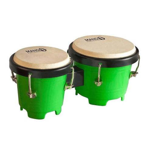 Mano Percussion TDK16G Tunable Mini Bongos - Green