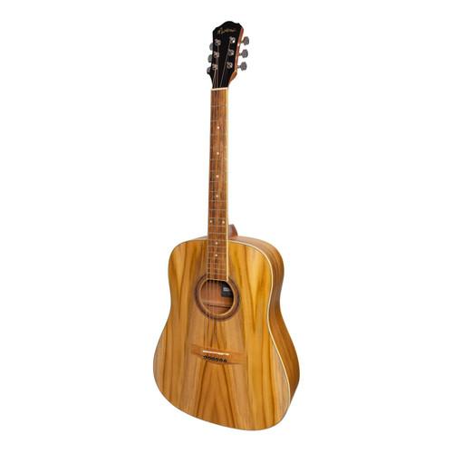 Martinez '41 Series' Dreadnought Acoustic Guitar With Built-In Tuner (Jati-Teakwood)