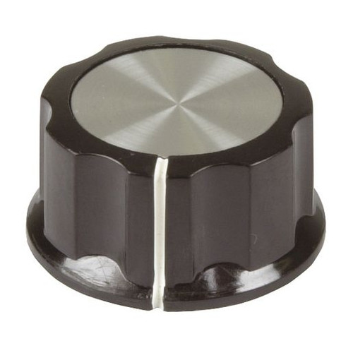 32mm Knob - Black Plastic Aluminium Insert