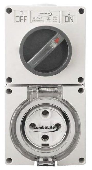 40A 4 Pin Round Switch Socket Combination - Lumbalite