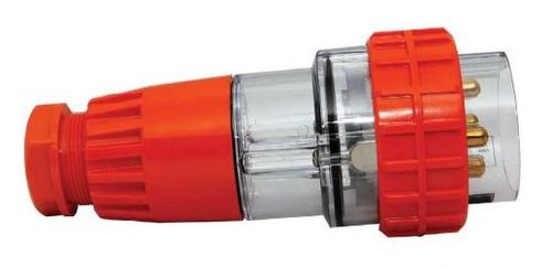 4 Pin 10A Straight Plug Round - Lumbalite