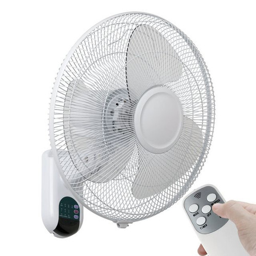 Athena II 40cm White Wall Fan With Remote - Mercator