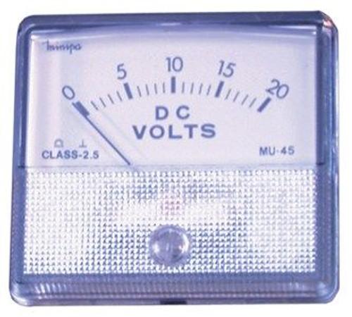 0 - 20V Mu45 Panel Meter - Moving Coil Type