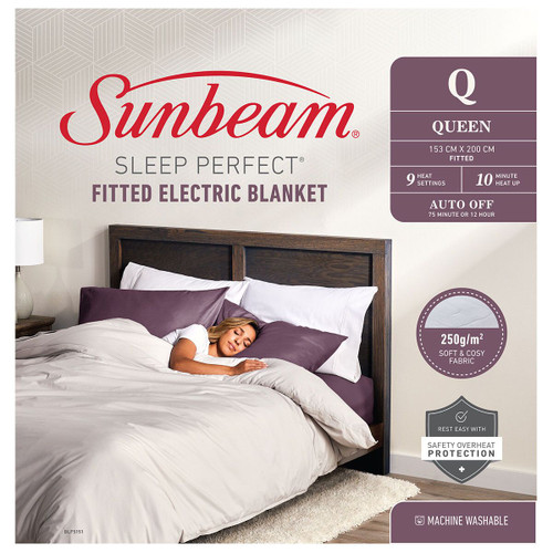 Sunbeam Sleep Perfect Queen Fitted Heated Blanket