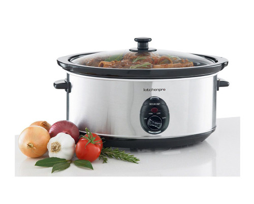 Maxim Stainless Steel Slow Cooker 6L
