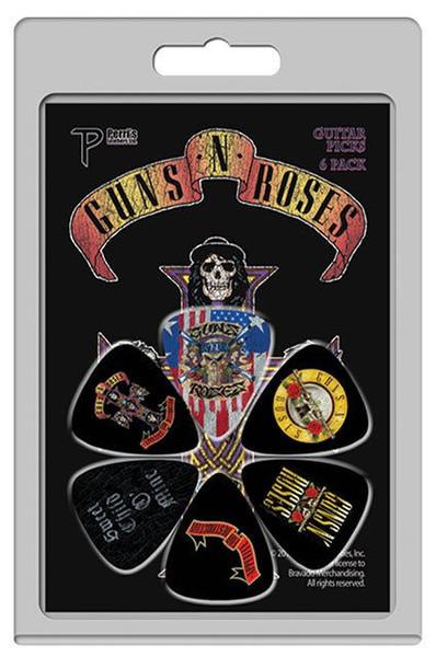 Perris 6-Pack Guns'N'Roses Licensed Guitar Picks Pack