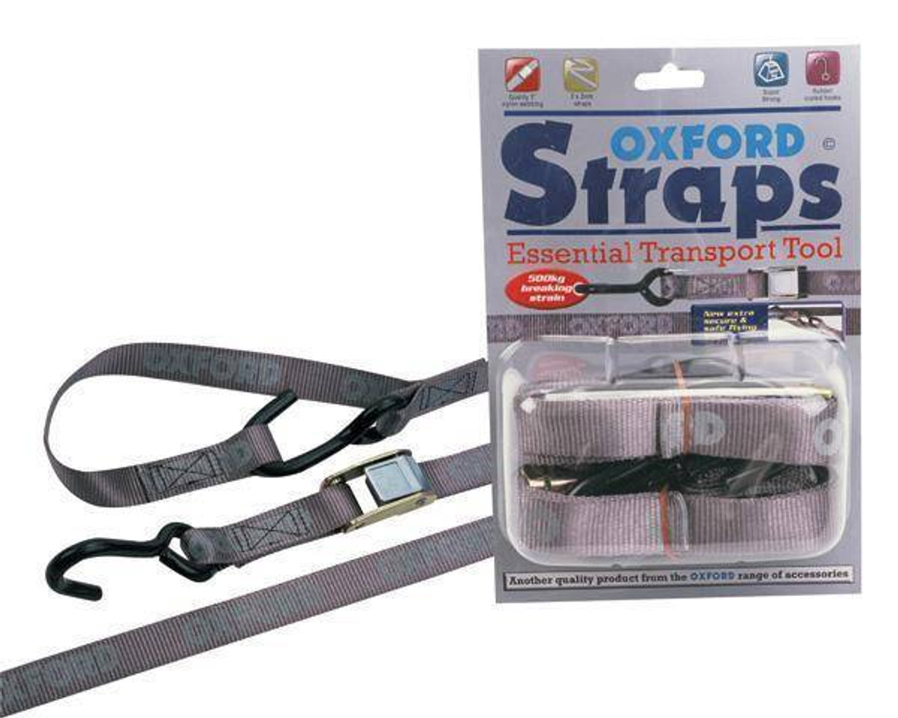 Oxford Straps 2 Travel/&Transportation Self Locking Carabiner Straps Motorcycle