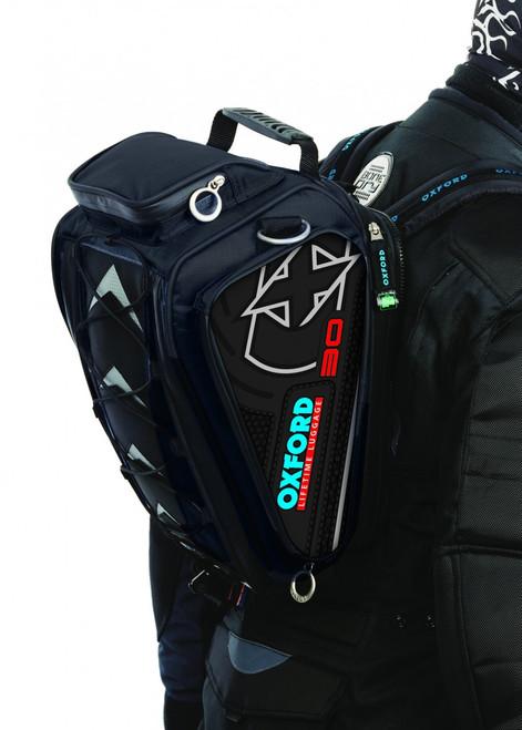 Oxford OL126 X30 Black Magnetic Motorcycle Tank Bag
