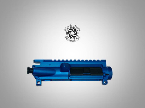 Blue Anodized Forged AR-15 A3 Assembled Upper Receiver With M4 Feed Ramps