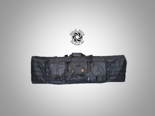 "Black Aura Tactical's Soft Rifle Gun Case (Padded Double Black 42"")"