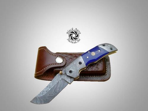 """7"""" Damascus Folding Knife"""