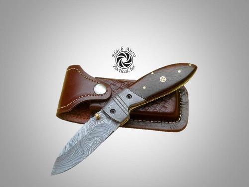 """7.5"""" Damascus Folding Knife"""
