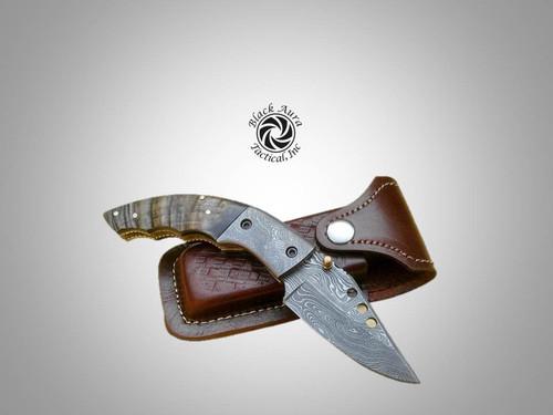 """7"""" Damascus Folding Knife M2"""