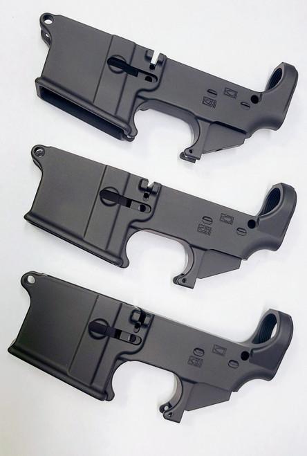 3 Pack- Black 80% lower Receivers