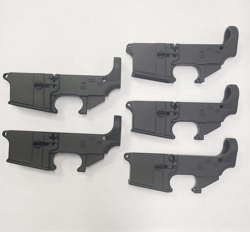 5 Pack- Black 80% Lower Receivers