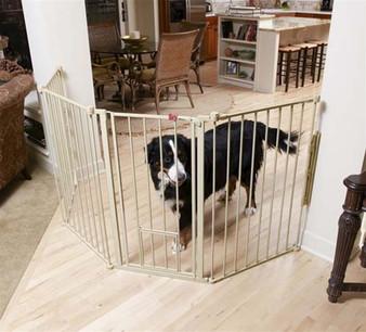 Flexi Extra Tall Walk-Thru Gate with Pet Door