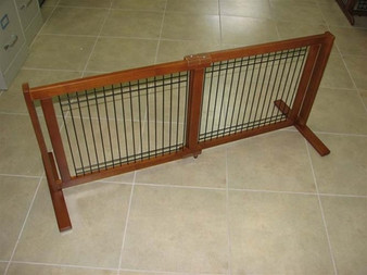 Signature Series Traditional Wood Wire Pet Gate - Large