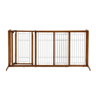Deluxe Freestanding Pet Gate with Door - Medium