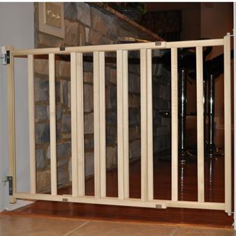 Wood Slat Stairway Gate