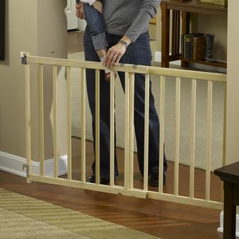 Wood Slat Extra Large Stairway Gate
