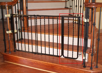 """10.5"""" Extension for Wrought Iron Decor Gate"""