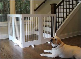 4-Panel Tall Freestanding Pet Gate