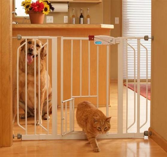 Extra Wide Walk-Thru Gate with Pet Door
