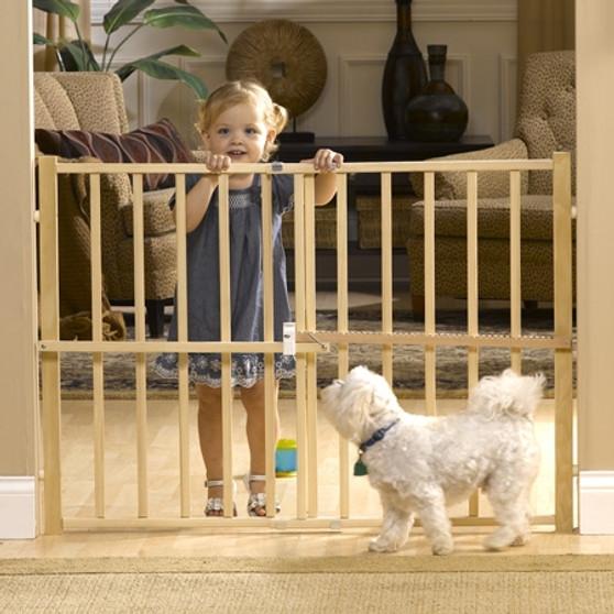 Wood Slat Large Guard Gate