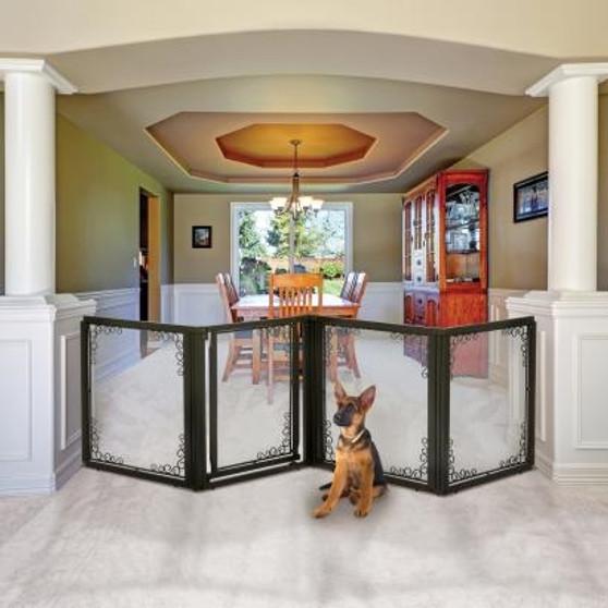 Richell Convertible Elite Mesh 4 Panel Pet Gate
