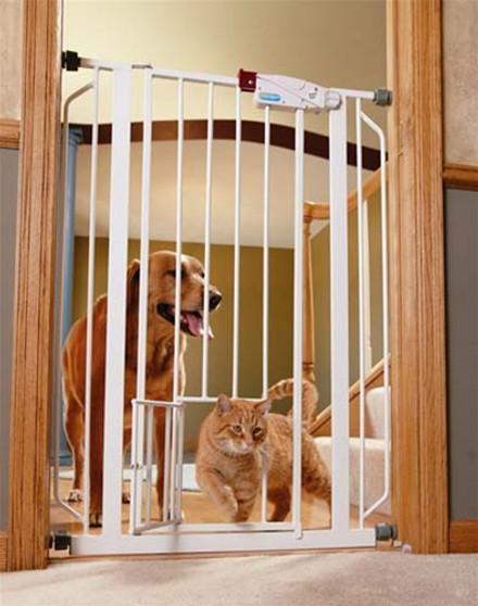 Extra Tall Walk-Thru Gate with Pet Door