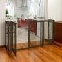 Deluxe Mesh Freestanding Pet Gate with Door