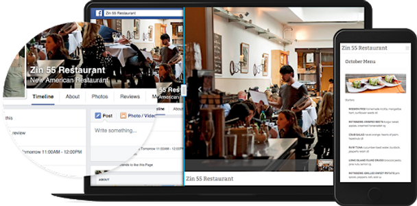 Turn your Facebook Page into a professional, mobile-optimized website in 1-click.