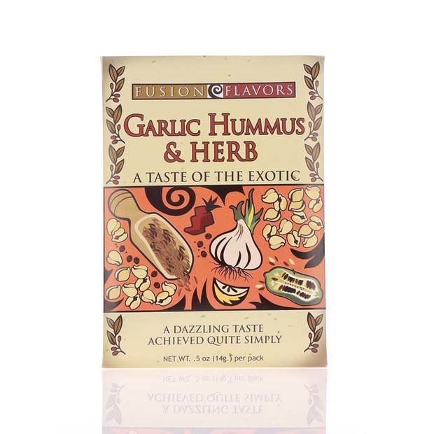 Garlic hummus & Herb