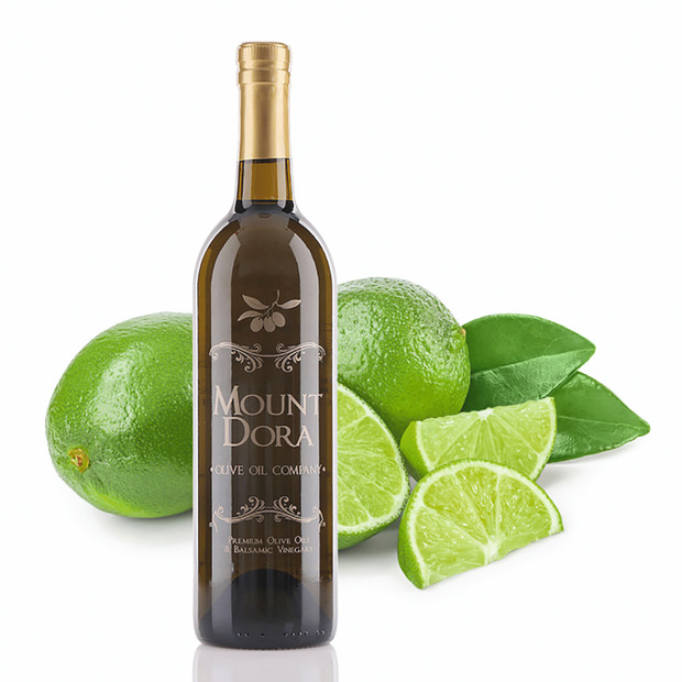 A 750mL bottle of Mount Dora Persian Lime Infused Olive Oil