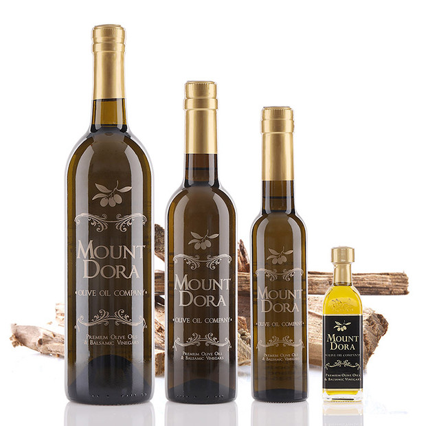 A 750mL bottle of Mount Dora Olive Wood Smoked Infused Olive Oil