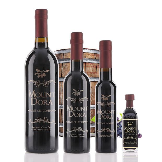 Bottles of Denissimo 25 year Dark Balsamic Vinegar