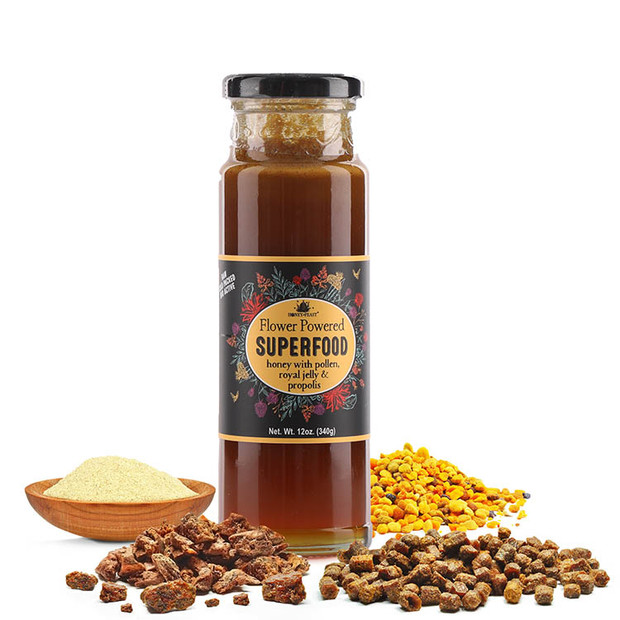 Superfood Honey with Royal Jelly, Bee Pollen, and Propolis