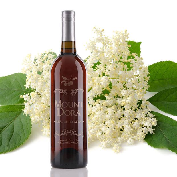 One 750mL bottle of Elderflower White Balsamic Vinegar