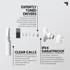 Sharper Image® Earbuds Headphones in White (QI Wireless Charging Case Included)- NEW SEALED