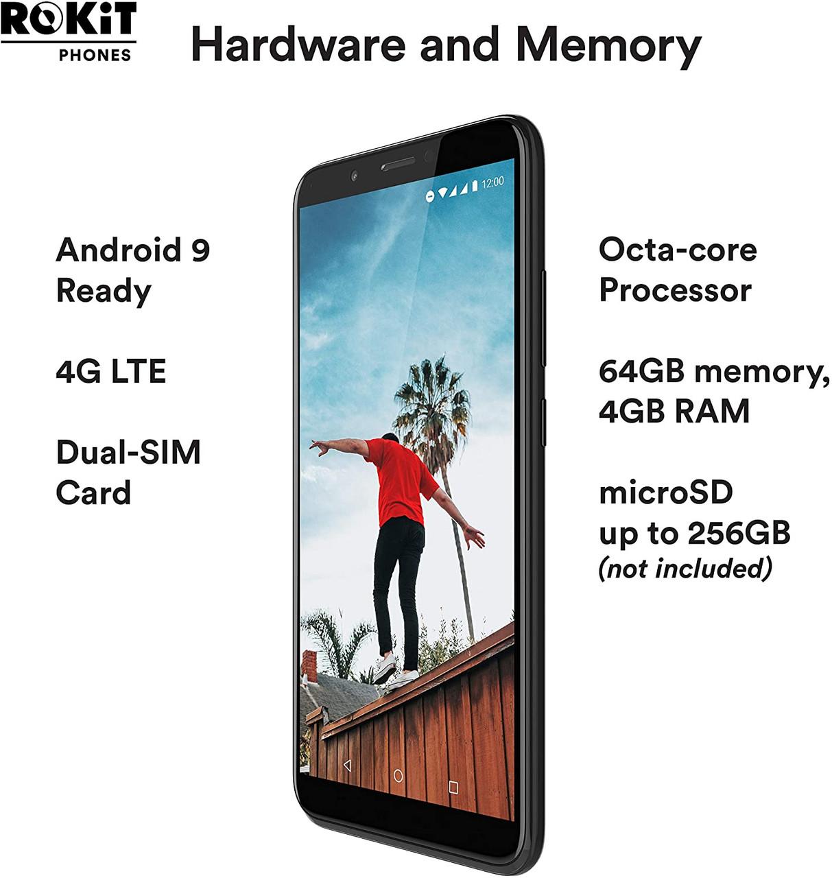 ROKiT IO PRO 3D 4G LTE UNLOCKED W/ $15 GEN MOBILE PRELOADED SIM (T-MOBILE NETWORK)