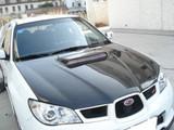 AC975HC - Advan OEM Design 2006-2007 Subaru Impreza WRX Carbon Fiber Hood