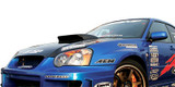 AC977HC - Advan OEM Design 2004-2005 Subaru Impreza WRX Carbon Fiber Hood