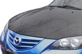 AC745HC - Advan OEM Design 2003-2008 Mazda 3 4Dr Carbon Fiber Hood