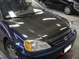 AC220HC - Advan OEM Design 2001-2003 Honda Civic 2/4Dr. Carbon Fiber Hood