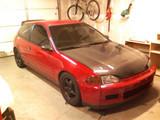 AC215HC - Advan OEM Design 1992-1995 Honda Civic HB/ Coupe Carbon Fiber Hood