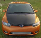 AC223HCF - Advan OEM Design 2006-2011 Honda Civic Sedan Carbon Hood