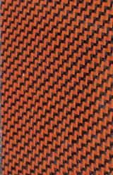 Dual Orange Carbon/ Kevlar Twill Weave Option